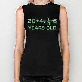 30 Years Old Math Equation Funny 30th Birthday Biker Tank