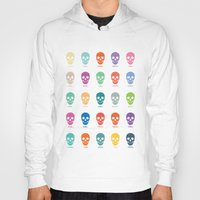 pantone Hoodies featuring Pantone Skulls by James Northcote