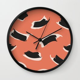Animal Stripes in Terracotta Wall Clock