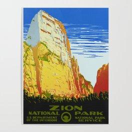 Zion National Park - Vintage Travel Poster