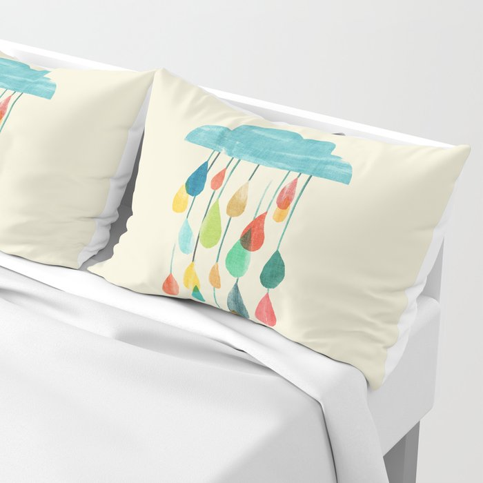 cloudy with a chance of rainbow Pillow Sham