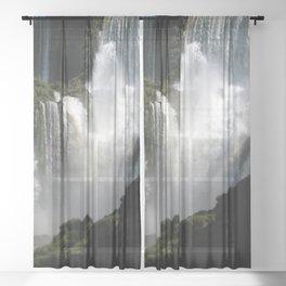 Iguazu Iguassu Waterfall Landscape Panorama Scenery, Brazil Argentina 5 Sheer Curtain