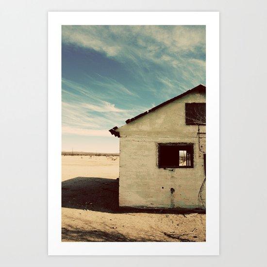 Desert House - Color Art Print