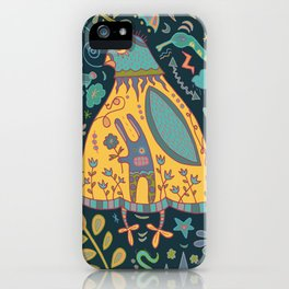 Chatty Yellow Bird iPhone Case