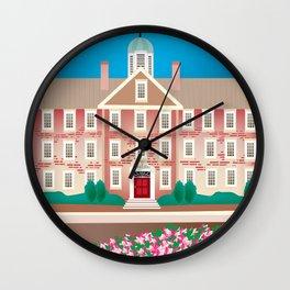 Chapel Hill, North Carolina - Skyline Illustration by Loose Petals Wall Clock