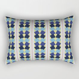 Fanned Squares Rectangular Pillow