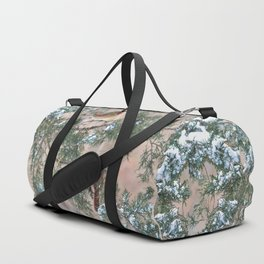 Winter Pair Cardinals (sq) Duffle Bag