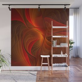 Warmth, Abstract Fractal Art Wall Mural