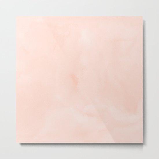 Simply Sweet Peach Coral Watercolor Metal Print