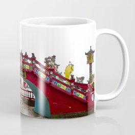 Beautiful Red Temple to Water Goddess in Hong Kong Coffee Mug