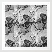 Wrinkle free grid  Art Print
