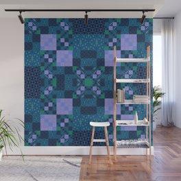 Elegant Geometric High Definition Quilt Lavender Teal Wall Mural