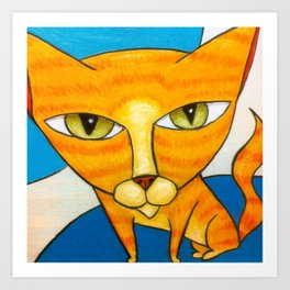 Cute Orange Kitty Art Print