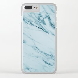 Alberto Verde - green marble Clear iPhone Case