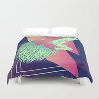 leon Duvet Covers featuring LEON z7 by Edgar Gomez UniverZ7