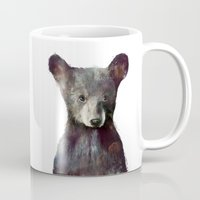 navy Mugs featuring Little Bear by Amy Hamilton