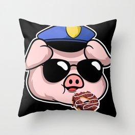 Doughnut Pastry Sprinkles Pigs Dessert Throw Pillow