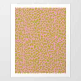 Pink Limeopard Art Print
