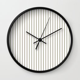 Pussy Willow Pinstripe on White Wall Clock