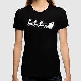 Merry Christmas Santa Reindeer Silhouette T-shirt