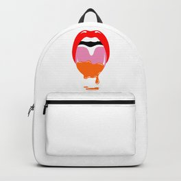 Mouth Orange Drip (Valentines Day Edition) Backpack