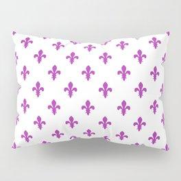 Fleur-de-Lis (Purple & White Pattern) Pillow Sham