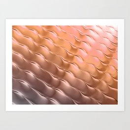 Copper satin ripple Art Print