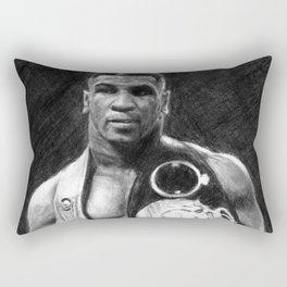 Mike Tyson Pencil Drawing Rectangular Pillow