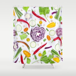 Vegetables pattern (5) Shower Curtain