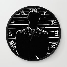 Suited Up Wall Clock