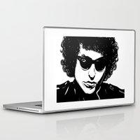 bob dylan Laptop & iPad Skins featuring Bob Dylan by Hippy Hoo Ha