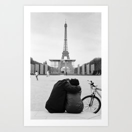 Paris Lovers Art Print