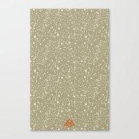 Trail Status / Beige Canvas Print