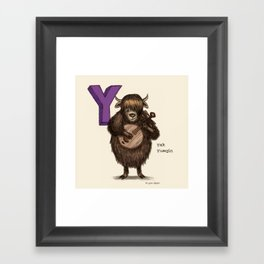 Animals & Instruments ABCs – Y Framed Art Print