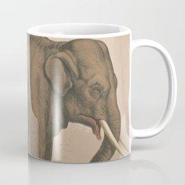 Vintage Elephant Illustration (1874) Coffee Mug