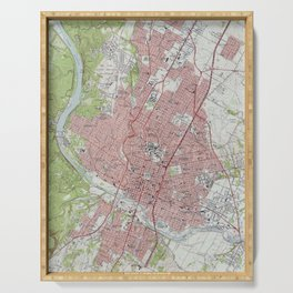 Vintage Map of Austin Texas (1955) Serving Tray