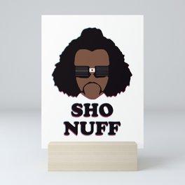 sho nuff Mini Art Print