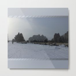 The Blowing Cold Metal Print