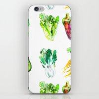 vegetables iPhone & iPod Skins featuring Vegetables by Naomi Bardoff