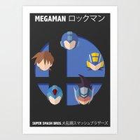 smash bros Art Prints featuring Megaman Smash Bros. by CmOrigins