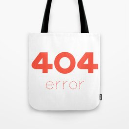 ERROR 404 red Tote Bag