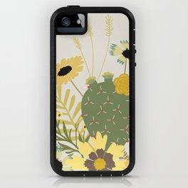 Wildflowers & Cactus iPhone Case