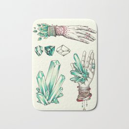 Crystal Hands Bath Mat