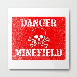 Danger Minefield Metal Print