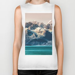Scenic sunset Alaskan nature glacier landscape wilderness Biker Tank