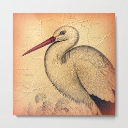 Pretty Stork Metal Print