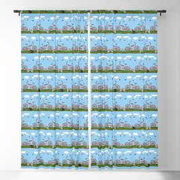 Pink bicycles pattern Blackout Curtain