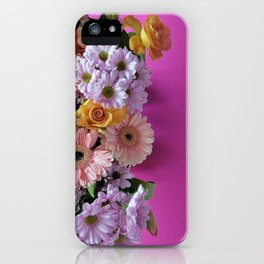 pink 'n flowers iPhone Case