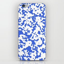 Spots - White and Royal Blue iPhone Skin