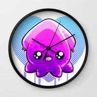 hentai Wall Clocks featuring Jelly Squid  by Lucky Squid Studios